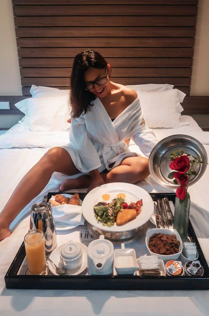 breakfast in bed at furama riverfront