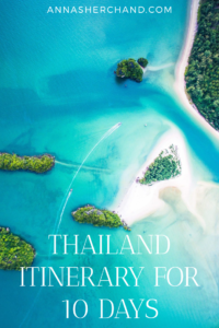 view of thai ocean from above