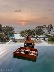 Infinity pool at the baba beach club