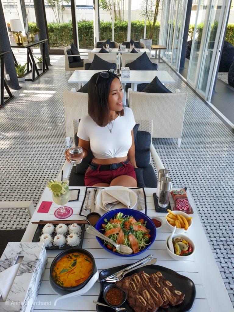 Lunch at the beach club hua hin