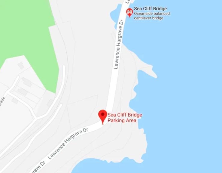 sea cliff bridge lookout parking