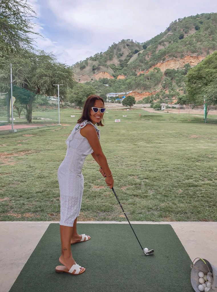 playing golf in Dili, timor leste
