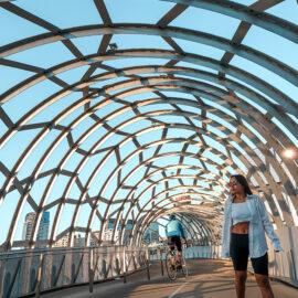 girl at the webb bridge in melbourne