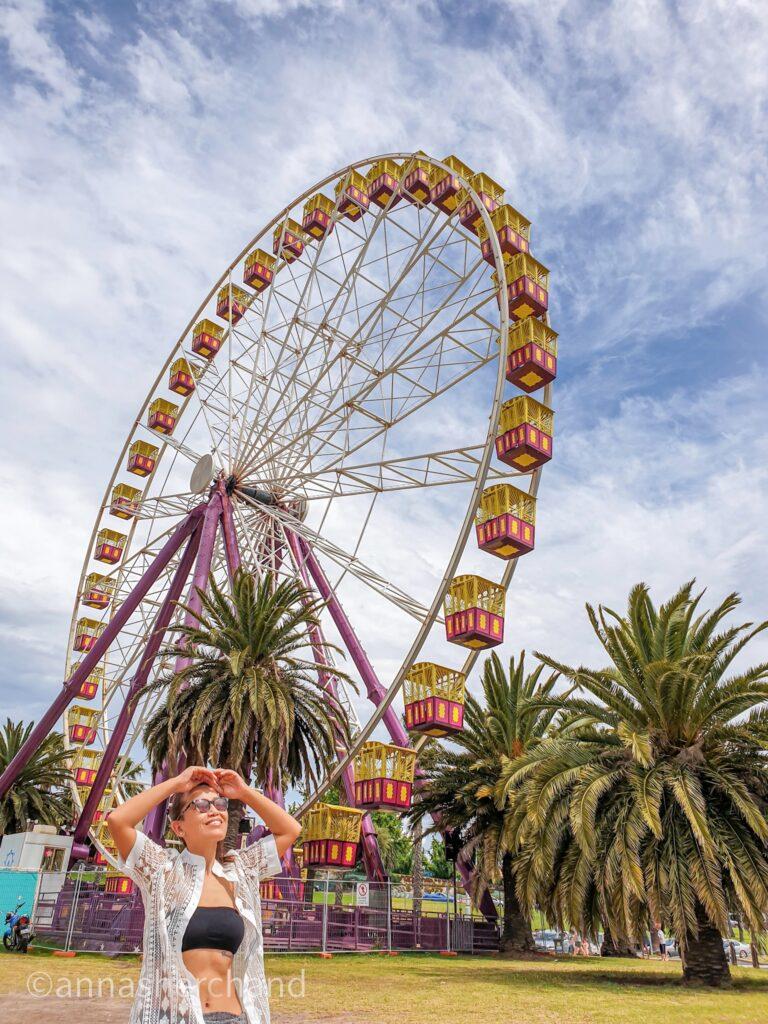 giant ferrris wheel geelong