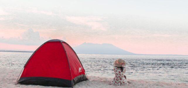 girl enjoying a free camping on great ocean road