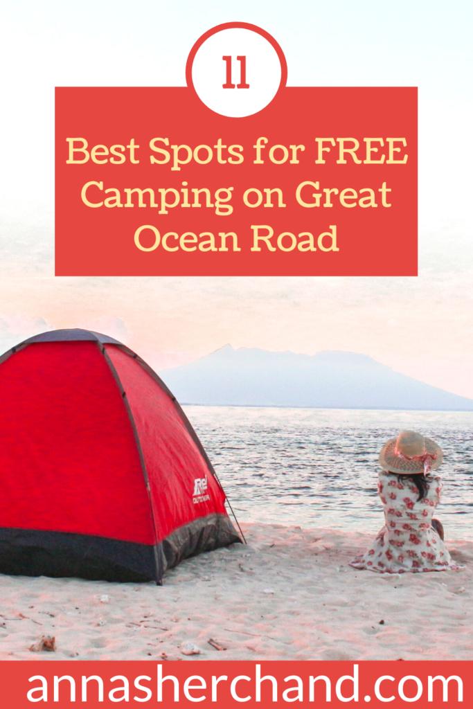 free camping on great ocean road