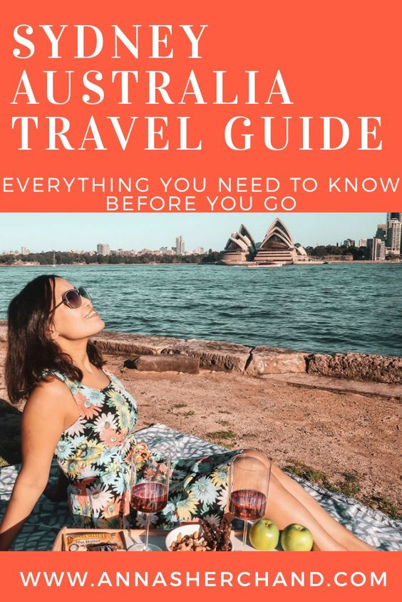 Sydney Australia travel blog with a girl sitting in front of opera house