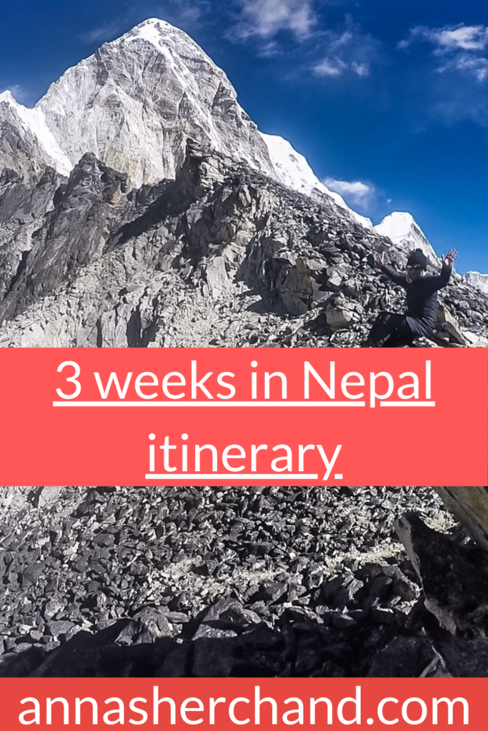 3 weeks in nepal itinerary