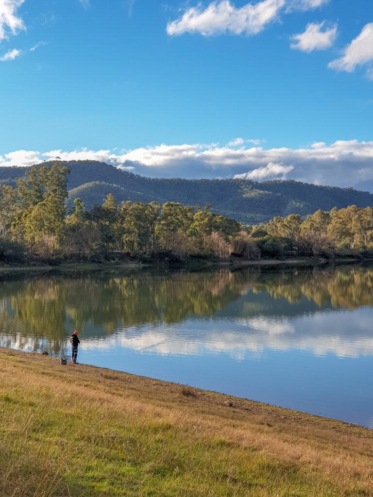 Fishing in lake eildon
