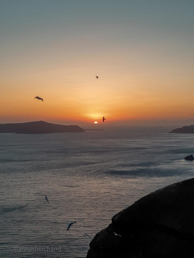 Solo travel to Santorini